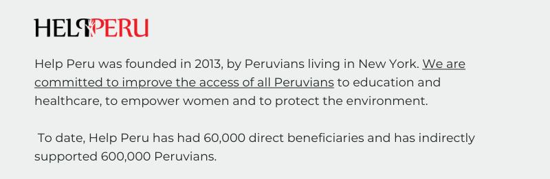 Help Peru website