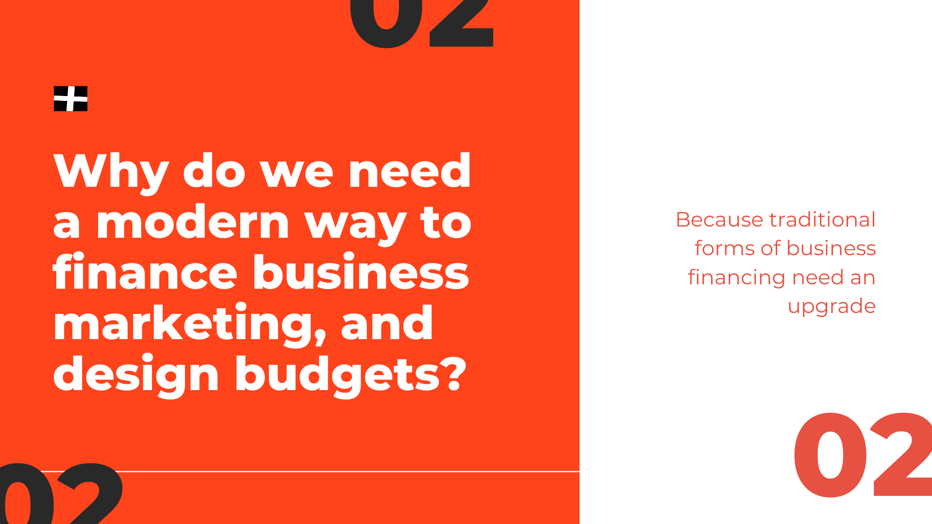 Why do we need a modern way to finance business marketing, and design budgets? Because traditional forms of business financing need an upgrade