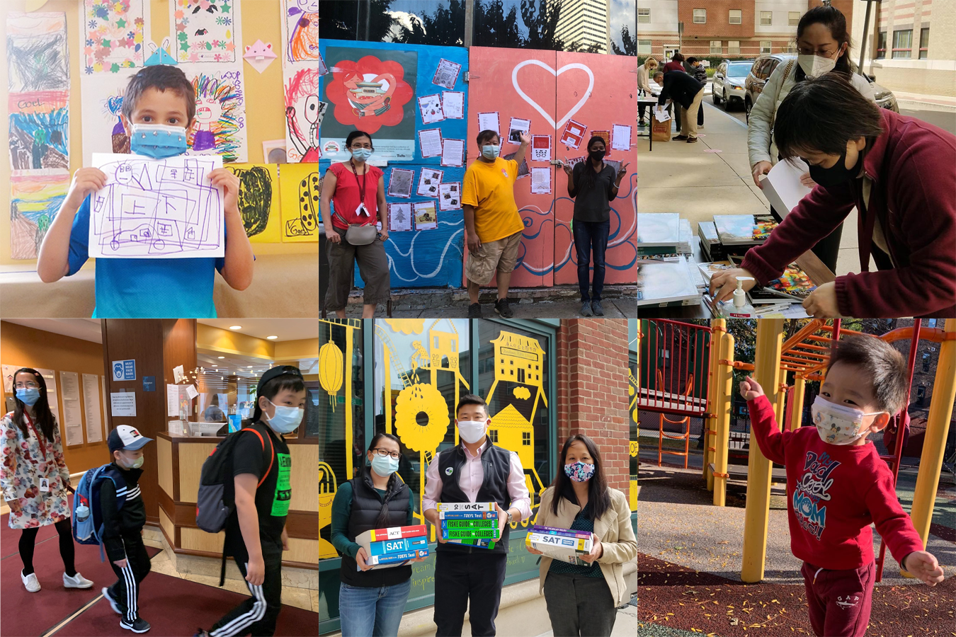 A collage of BCNC participants, from childcare students to adult learners.